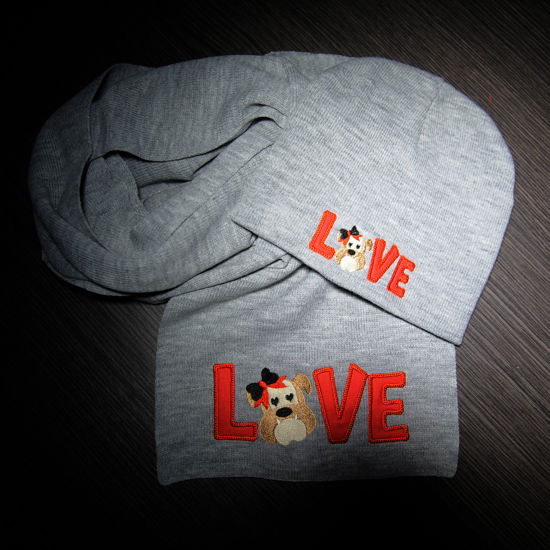 Picture of Love Bulldog Hat + Scarf